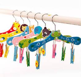 Вешалки плечики тремпеля для детской одежды