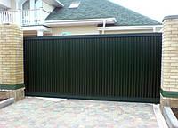 Откатные антивандальные въездные ворота, фото 1