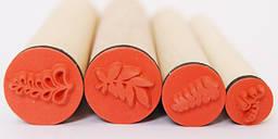 Набор штампов резиновых Листочки 4 шт Heyda