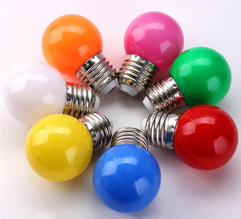 Лампочки цветные светодиодные 220В 1Вт