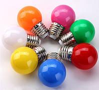 Лампочки цветные светодиодные 220В 1Вт, фото 1