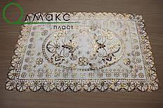 Салфетка золото ажурная для украшения и защиты стола и других поверхностей
