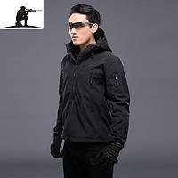 Куртка тактическая черная Soft shell esdy