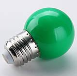 Лампочки цветные светодиодные 220В 1Вт, фото 6
