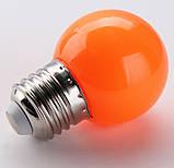 Лампочки цветные светодиодные 220В 1Вт, фото 7