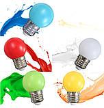 Лампочки цветные светодиодные 220В 1Вт, фото 8