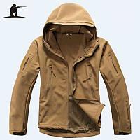 Куртка тактическая Койот(тан) Soft shell esdy