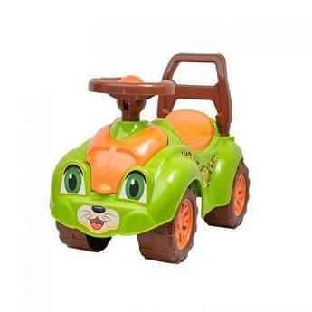 Детская машинка-каталка (толокар) Технок для прогулок (салатовый)