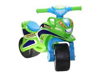"""Мотоцикл-каталка Doloni """"Полиция"""" (салатовый)"""