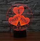 3D Светильник I LOVE YOU, фото 4