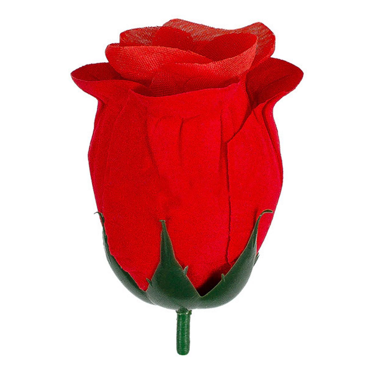 Бутон розы бархатная рюмка, 8см (35 шт. в уп)