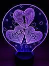 3D Светильник I LOVE YOU, фото 5