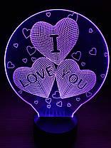 3D Світильник I LOVE YOU, фото 3