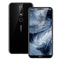 "Смартфон Nokia X6 (Nokia 6.1 Plus) 4/64 Black, 5.8"" FHD+, Snapdragon 636, камеры 16+16, Face ID, 3060 мАч"