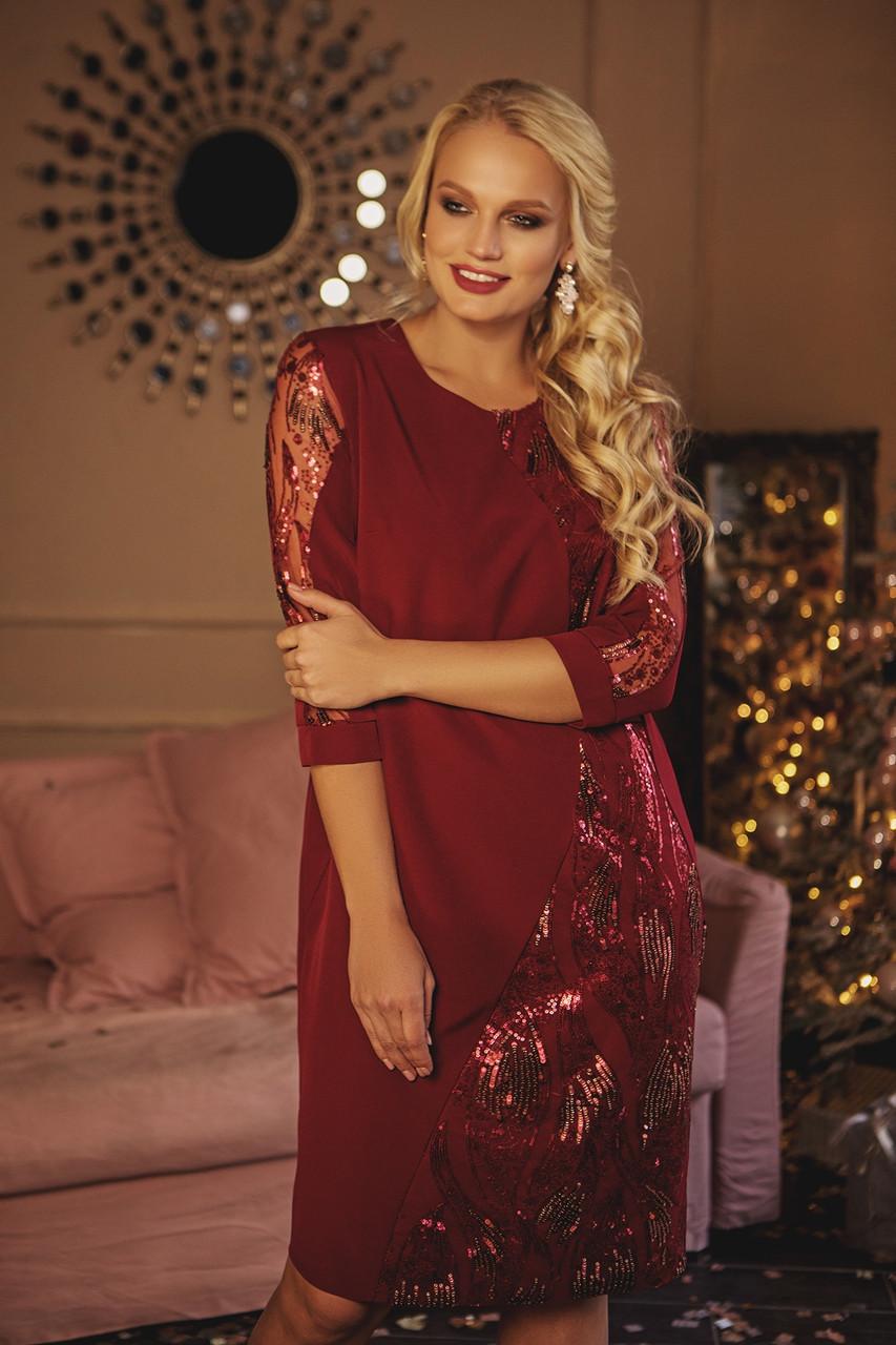 Красивое вечернее платье с паетками с 50 по 56 размеры