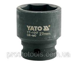 """Головка торцевая ударная шестигранная YATO 1/2"""" М27 х 43 мм YT-1017"""