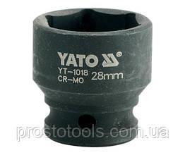 """Головка торцевая ударная шестигранная YATO 1/2"""" М28 х 48 мм YT-1018"""