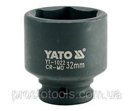 """Головка торцевая ударная шестигранная YATO 1/2"""" М32 х 48 мм YT-1022"""