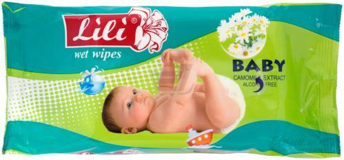 Влажные салфетки Lili ''Baby'', 15 шт