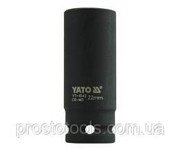 """Головка торцевая ударная шестигранная YATO 1/2"""" М22 х 78 мм YT-1042"""