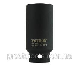 """Головка торцевая ударная шестигранная YATO 1/2"""" М27 х 78 мм YT-1047"""