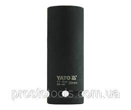 """Головка торцевая ударная шестигранная YATO 1/2"""" М20 х 78 мм YT-1040"""