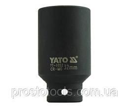 """Головка торцевая ударная шестигранная YATO 1/2"""" М32 х 78 мм YT-1052"""