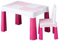 Комплект детской мебели Tega Baby MultiFun стол и 2 стула Pink