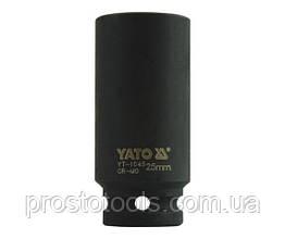 """Головка торцевая ударная шестигранная YATO 1/2"""" М25 х 78 мм YT-1045"""