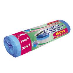 Пакеты для мусора York 60л/10шт, з затяжками 90620