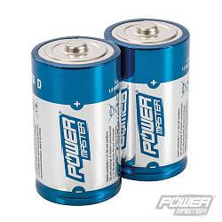 Батарейки алкалінові D, 1,5V LR20, 2шт/уп, 0% ртуті, кадмію та свинцю, Ultra + Power, Power Master