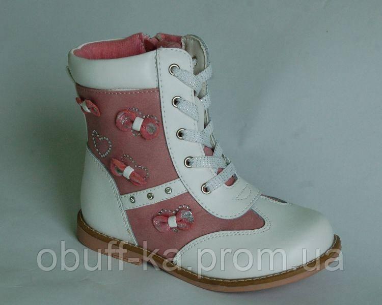 f498e9195 Ботинки Шалунишка арт.100-97, бело-розовый, 27, 17.0, цена 425 грн ...