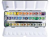 Набор акварельных красок REMBRANDT  DeLuxe 36 кювет + кисть в металлическом пенале 05838637