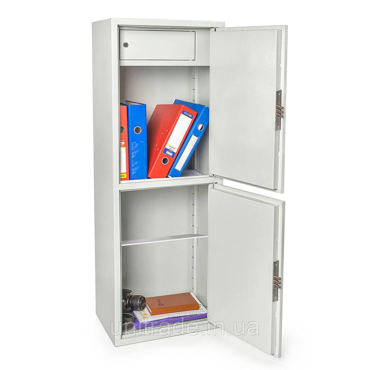Шкаф сейф 127х46х34 см.  БЛ-127К2.Т1.П2.7035  механический замок для дома, офиса, в гостиницу