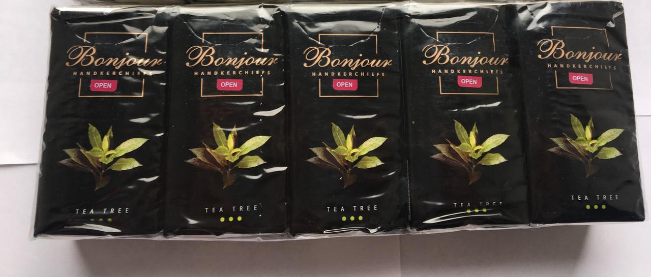 Бумажные платочки Bonojur (карманные), 10 шт