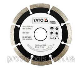 "Диск отрезной алмазный YATO ""SEGMENT"" 115 х 2.1 х 8 х 22.2 мм YT-6002"