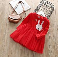 Платья с фатином Зайчик (крас) 100, фото 1