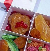 Подарочный набор из сушеных фруктов: помело, персик, вишня, курага, манго, райское яблоко, ананас кубик