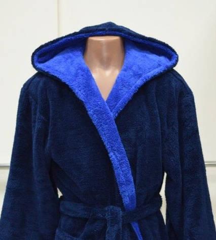 Мужской теплый махровый длинный халат Турция 44-64 р-ры, фото 2