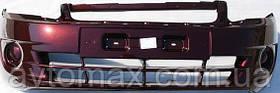 Бампер передний ВАЗ 2190 Лада Гранта крашенный, цвет Пантера 672
