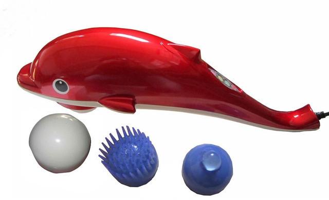 Ручной массажер для тела Дельфин маленький 15 см, вибромассажер для похудения, массажер для шеи. PR1