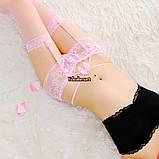 """Роскошные розовые трусики """"Блэр""""12942 с подтяжками для чулок, фото 2"""