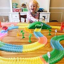 Magic Tracks 360+ деталей гнущий светящийся трек, Меджик трек гоночная трасса, конструктор - подарок для детей, фото 2