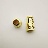 Наконечник для шнура, пластик, золото (1000шт)