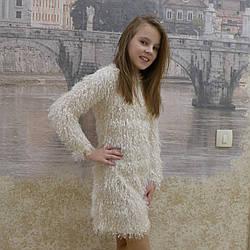 """Платье для девочек """"Лана"""", травка, размеры 34-42"""