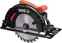 Пила дискова ручна мережева YATO. W= 1300 Вт, для диска Ø= 190/20 мм, кут 0-45° [2] YT-82150