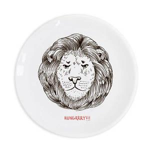 Красивая тарелка «Лев» 25 см стеклокерамика (Luminarc)