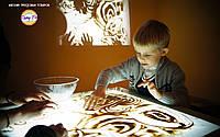 Световой развивающий игровой детский стол-песочница для песочной  анимации 9 в 1. Модель СТАНДАРТ