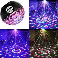 Светодиодный Диско шар с встроенной беспроводной колонкой LED Magic Ball Light mp3