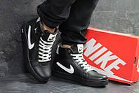 Кеды мужские найк джордан зимние кожаные черно-белые с мехом (реплика) Nike  Jordan 3b467457a9d